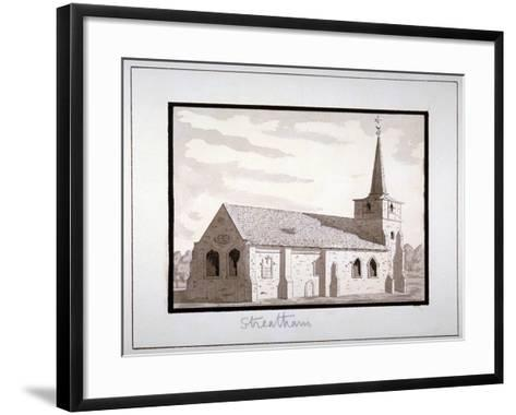 North-East View of the Church of St Leonard, Streatham, Lambeth, London, C1800--Framed Art Print