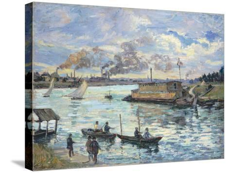 River Scene, 1890-Jean-Baptiste Armand Guillaumin-Stretched Canvas Print