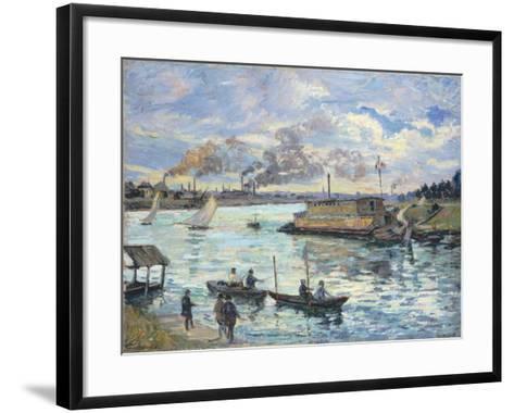 River Scene, 1890-Jean-Baptiste Armand Guillaumin-Framed Art Print