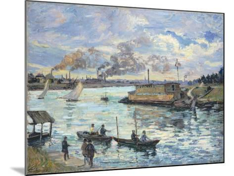 River Scene, 1890-Jean-Baptiste Armand Guillaumin-Mounted Giclee Print