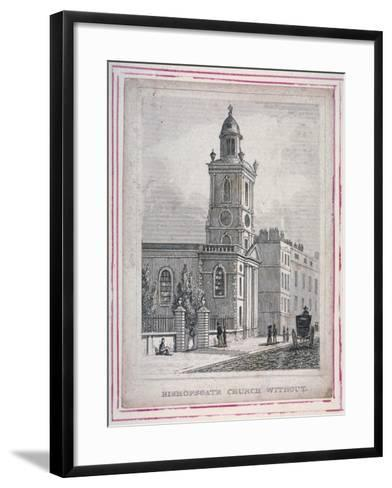 View of the Church of St Botolph Without Bishopsgate, City of London, 1830--Framed Art Print