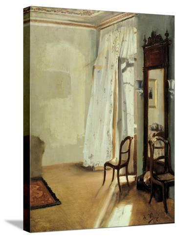 The Balcony Room, 1845-Adolph Friedrich von Menzel-Stretched Canvas Print