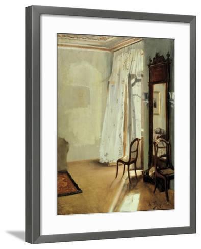 The Balcony Room, 1845-Adolph Friedrich von Menzel-Framed Art Print
