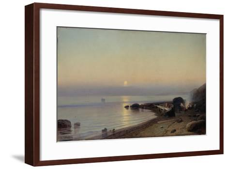 On the Seashore, 1882-Rufim Gavrilovich Sudkovsky-Framed Art Print