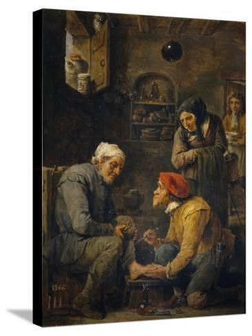 The Surgeon, 1630-1640-David Teniers the Younger-Stretched Canvas Print