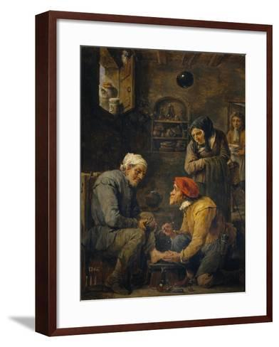 The Surgeon, 1630-1640-David Teniers the Younger-Framed Art Print