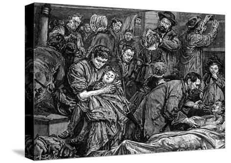 Steerage Passengers on an Atlantic Steamer Bound for America, C1850--Stretched Canvas Print