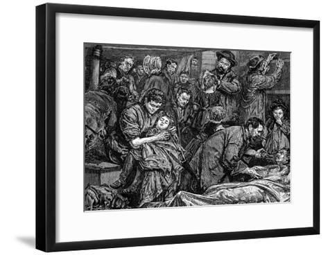 Steerage Passengers on an Atlantic Steamer Bound for America, C1850--Framed Art Print