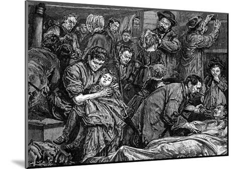 Steerage Passengers on an Atlantic Steamer Bound for America, C1850--Mounted Giclee Print