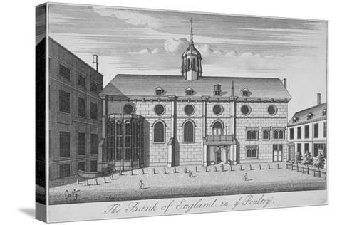 View of Grocers' Hall at Time it Housed Bank of England, City of London, 1730--Stretched Canvas Print