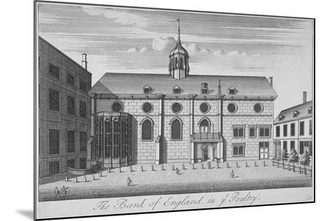 View of Grocers' Hall at Time it Housed Bank of England, City of London, 1730--Mounted Giclee Print