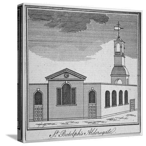 North-East View of the Church of St Botolph Aldersgate, City of London, 1750--Stretched Canvas Print