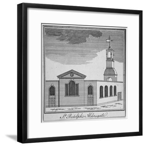North-East View of the Church of St Botolph Aldersgate, City of London, 1750--Framed Art Print