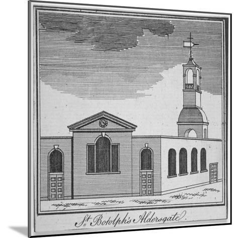 North-East View of the Church of St Botolph Aldersgate, City of London, 1750--Mounted Giclee Print