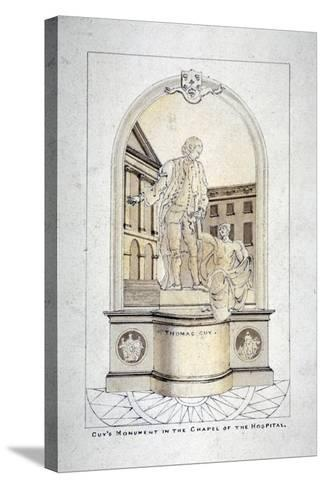 Sir Thomas Guy's Monument in Guy's Hospital Chapel, Southwark, London, C1790--Stretched Canvas Print