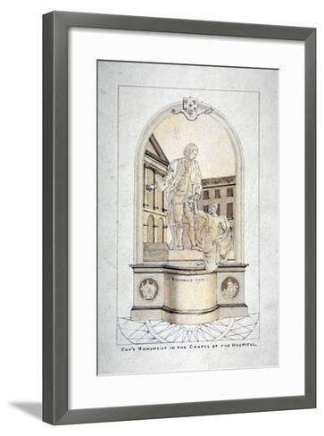 Sir Thomas Guy's Monument in Guy's Hospital Chapel, Southwark, London, C1790--Framed Art Print
