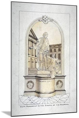 Sir Thomas Guy's Monument in Guy's Hospital Chapel, Southwark, London, C1790--Mounted Giclee Print