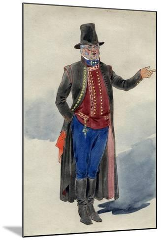 Costume Design for Dear Little Denmark, Prince of Wales Theatre, 1909--Mounted Giclee Print