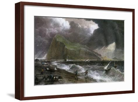 The Rock of Gibraltar, as Seen from the Bay Side, 20th Century--Framed Art Print