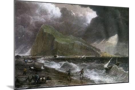 The Rock of Gibraltar, as Seen from the Bay Side, 20th Century--Mounted Giclee Print
