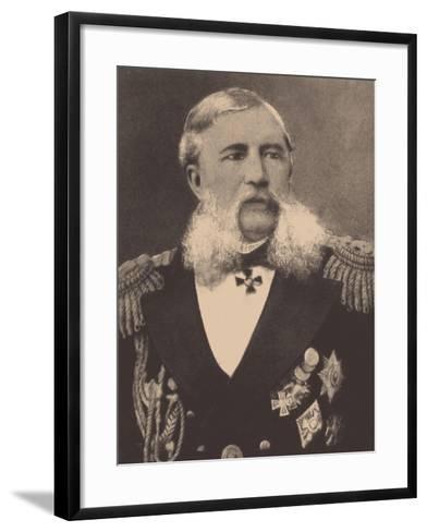 Portrait of the Admiral Grigory Ivanovich Butakov (1820-188)--Framed Art Print