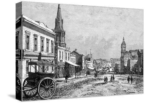 Collins Street, Melbourne, Victoria, Australia, 19th Century--Stretched Canvas Print