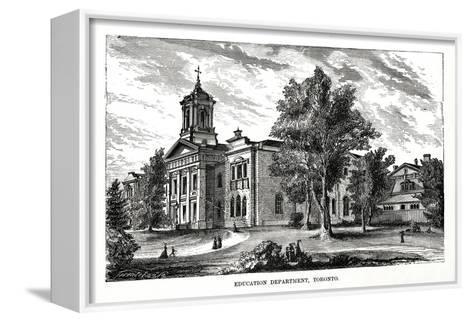 Education Department, Toronto, Ontario, Canada, 19th Century--Framed Canvas Print