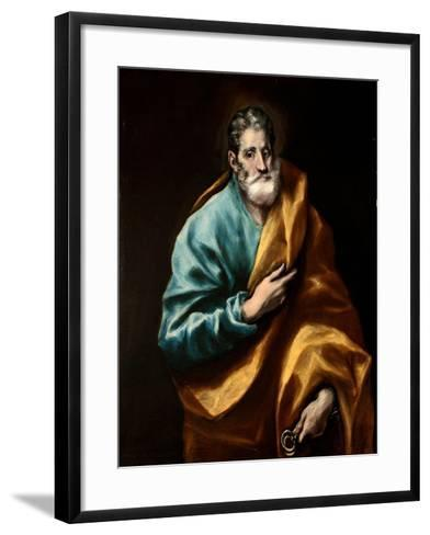 Peter the Apostle-El Greco-Framed Art Print