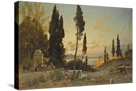 Views across the Bosphorus, Constantinople-Hermann David Salomon Corrodi-Stretched Canvas Print