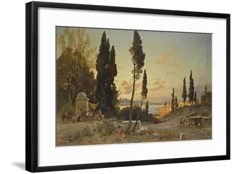 Views across the Bosphorus, Constantinople-Hermann David Salomon Corrodi-Framed Art Print