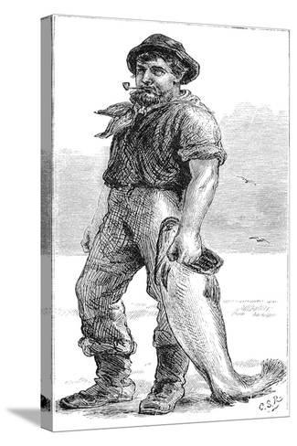 Typical Cape Cod Fisherman, 1875--Stretched Canvas Print