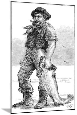 Typical Cape Cod Fisherman, 1875--Mounted Giclee Print