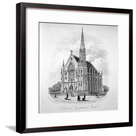 Kingsland Congregational Chapel, Kingsland Road, Hackney, London, 1853--Framed Art Print