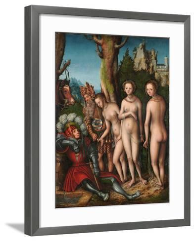 The Judgement of Paris-Lucas Cranach the Elder-Framed Art Print