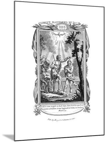 John the Baptist Baptising Jesus, C1808--Mounted Giclee Print