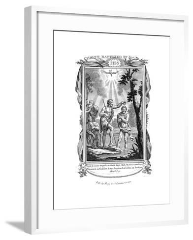 John the Baptist Baptising Jesus, C1808--Framed Art Print