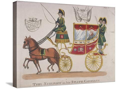 Sheriff in His State Carriage During the Lord Mayor's Procession, 1824--Stretched Canvas Print