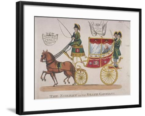 Sheriff in His State Carriage During the Lord Mayor's Procession, 1824--Framed Art Print