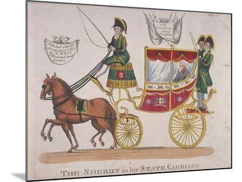 Sheriff in His State Carriage During the Lord Mayor's Procession, 1824--Mounted Giclee Print