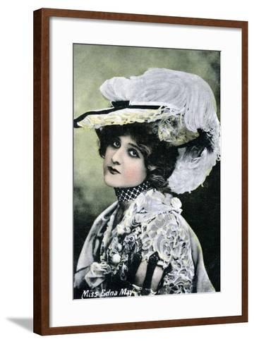 Edna May, American Singer and Actress, Early 20th Century--Framed Art Print
