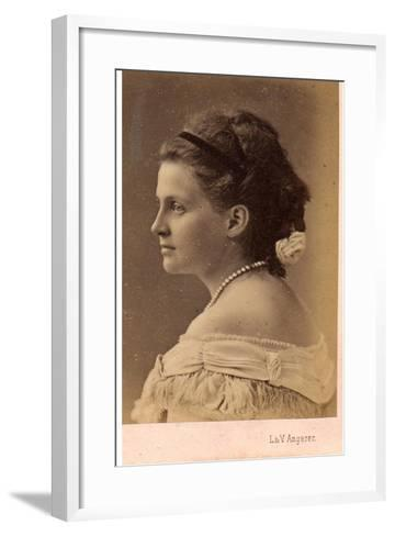 Portrait of Grand Duchess Olga Constantinovna of Russia (1851-192), 1870S--Framed Art Print