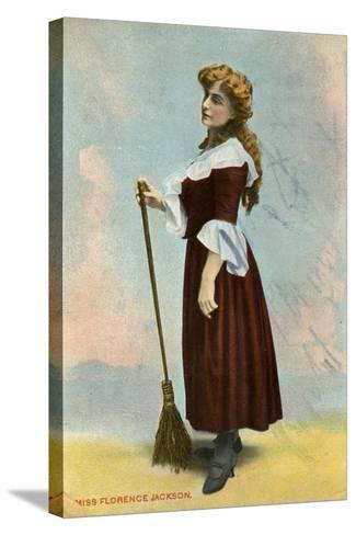 Florence Jackson, British Actress, C1908--Stretched Canvas Print