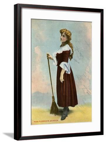 Florence Jackson, British Actress, C1908--Framed Art Print