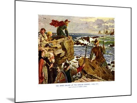 The Danes Sailing Up the English Channel, C877 Ad-Herbert A Bone-Mounted Giclee Print