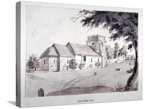 The Church of St Mary Magdalene, East Ham, Newham, London, 1785--Stretched Canvas Print