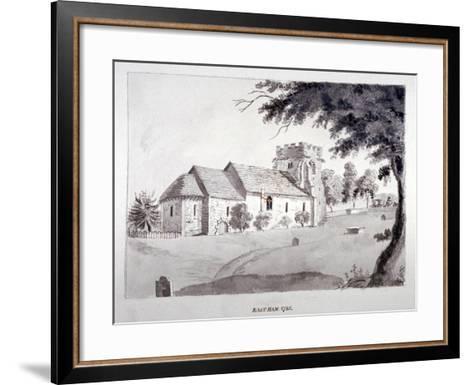The Church of St Mary Magdalene, East Ham, Newham, London, 1785--Framed Art Print