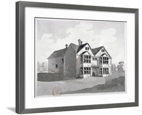 View of the Manor House at Little Ilford, Newham, London, C1786--Framed Art Print