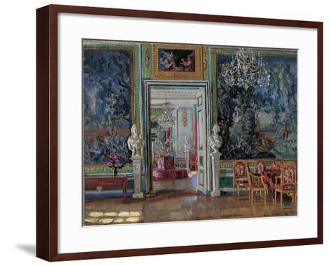 Interior in the Kuskovo Palace, 1917-Stanislav Yulianovich Zhukovsky-Framed Art Print