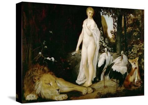 The Fable, 1883-Gustav Klimt-Stretched Canvas Print