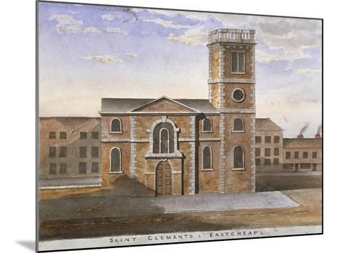 South View of the Church of St Clement, Eastcheap, City of London, 1820--Mounted Giclee Print